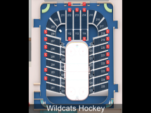 arizona wildcat hockey, seating charts