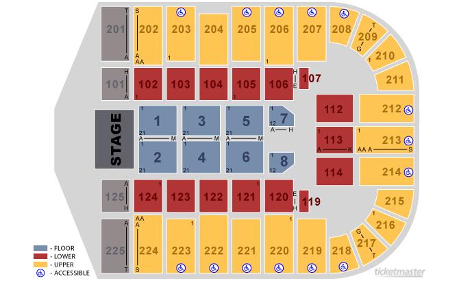 Seating charts tucson arena