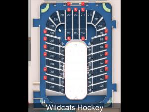 arizona wildcat hockey, seating charts